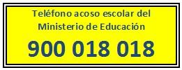 Teléfono acoso escolar MECD